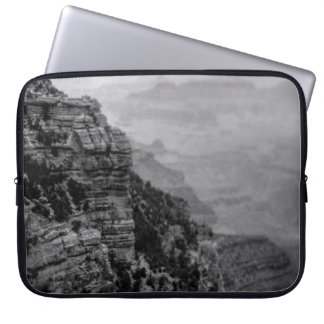 Sleeve Para Laptop A bolsa de laptop preto e branco do Grand Canyon