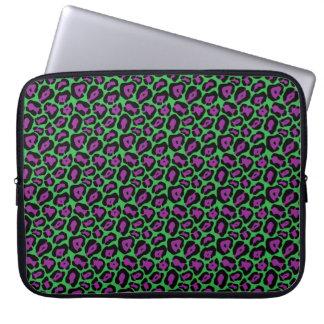 Sleeve Para Laptop A bolsa de laptop verde & roxa chique do impressão