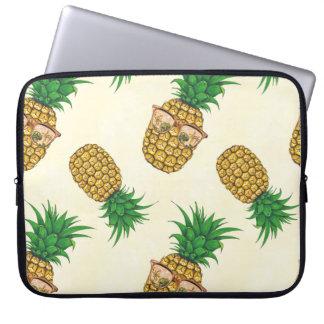 Sleeve Para Laptop Abacaxis com os óculos de sol pintados mão