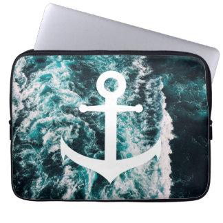 Sleeve Para Laptop Âncora náutica no fundo da foto do oceano