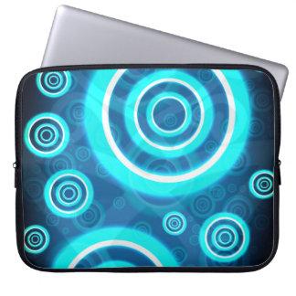 Sleeve Para Laptop Anéis cósmicos de incandescência do azul