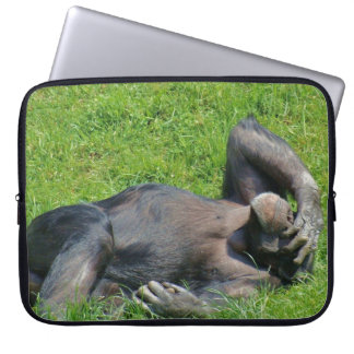 Sleeve Para Laptop Animal engraçado do chimpanzé
