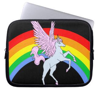 Sleeve Para Laptop Arco-íris do unicórnio do tigre 80s de Corey