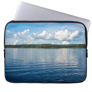 Sleeve Para Laptop Arquipélago na costa de mar Báltico na suecia