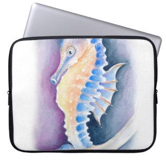 Sleeve Para Laptop Arte da aguarela do cavalo marinho
