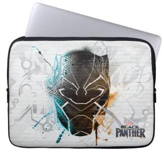 Sleeve Para Laptop Arte dupla preta da rua das panteras da pantera  