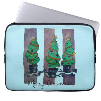 Sleeve Para Laptop árvores do feriado
