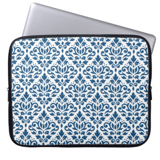 Sleeve Para Laptop Azul do Rpt Ptn DK do damasco do rolo no branco
