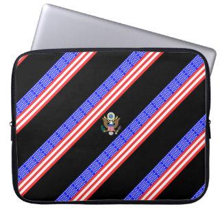 Sleeve Para Laptop Bandeira das listras dos Estados Unidos