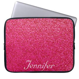 Sleeve Para Laptop Brilho chique elegante do impressão do ROSA quente