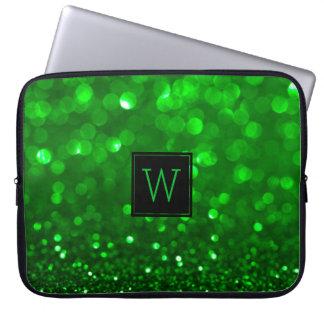 Sleeve Para Laptop Brilho & Sparkles verde-claro
