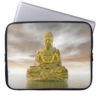 Sleeve Para Laptop Buddha dourado - 3D rendem
