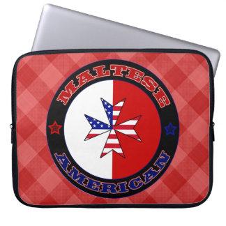 Sleeve Para Laptop Caixa transversal americana maltesa do laptop da