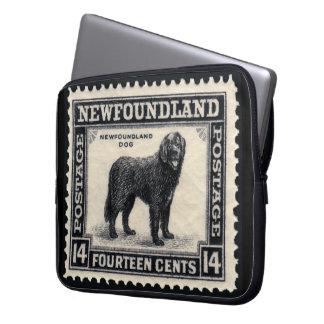 Sleeve Para Laptop Cão de Terra Nova do vintage