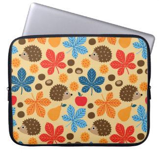 Sleeve Para Laptop Castanhas & teste padrão sem emenda do ouriço