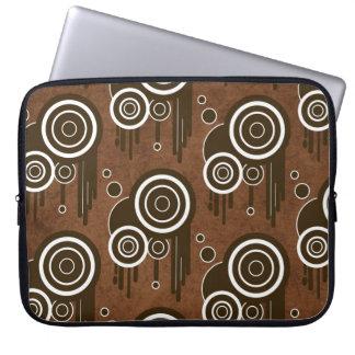 Sleeve Para Laptop Círculos retros legal na bolsa de laptop