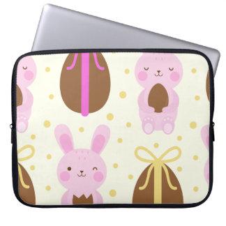 Sleeve Para Laptop Coelhinhos da Páscoa bonitos e teste padrão dos