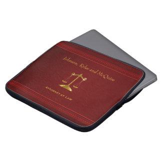 Sleeve Para Laptop Couro vermelho escuro de gama alta - design do