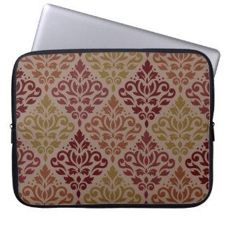 Sleeve Para Laptop Dos vermelhos grandes de Ptn do damasco do rolo