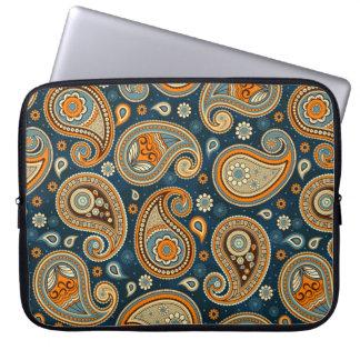 Sleeve Para Laptop Elegante alaranjado da cerceta azul do teste