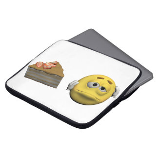 Sleeve Para Laptop Emoticon doente amarelo ou smiley