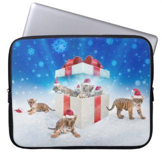 Sleeve Para Laptop Equipe presentes novos do Natal dos tigres | de