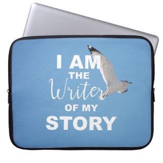 Sleeve Para Laptop Eu sou o escritor de minha história, céu azul