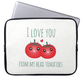 Sleeve Para Laptop Eu te amo de minha chalaça engraçada da fruta dos