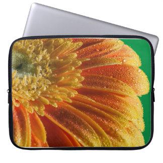 Sleeve Para Laptop Flor alaranjada com pétalas coloridas