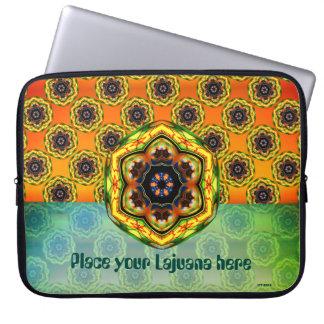Sleeve Para Laptop Flor estrangeira abstrata do espaço