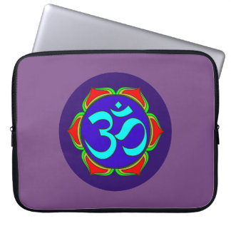 Sleeve Para Laptop flor sagrado da ioga do zen da religião do budismo