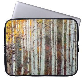 Sleeve Para Laptop Floresta enevoada do vidoeiro