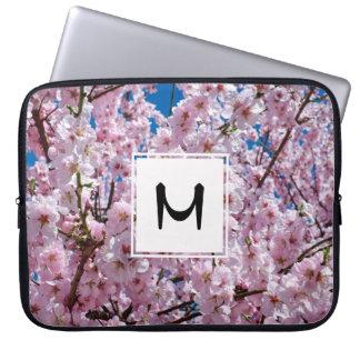 Sleeve Para Laptop fotografia cor-de-rosa elegante da árvore da flor