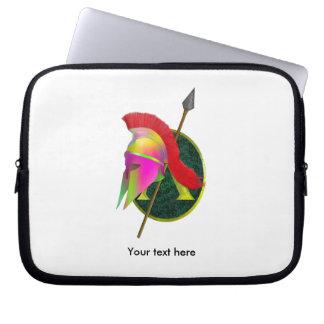 Sleeve Para Laptop Guerreiro espartano colorido