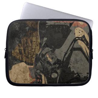 Sleeve Para Laptop Homem com máscara protetora na placa de metal