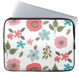 Sleeve Para Laptop Impressão floral ilustrado mão