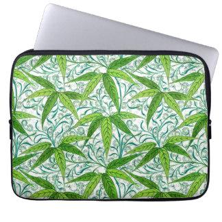 Sleeve Para Laptop Impressão, verde e branco de bambu de William