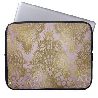 Sleeve Para Laptop Linha Bodacious caixa do laço malva do ouro do