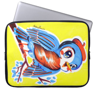 Sleeve Para Laptop Malote do laptop do kitsch do Bluebird