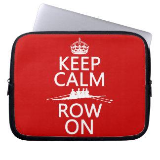 Sleeve Para Laptop Mantenha a calma e a fileira em (escolha toda a