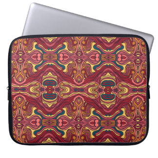 Sleeve Para Laptop Mão colorida abstrata design encaracolado tirado