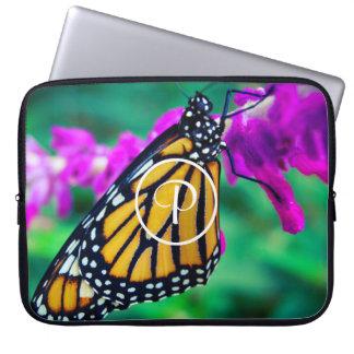 Sleeve Para Laptop Monograma alaranjado do costume do fim-acima da