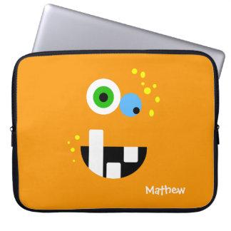 Sleeve Para Laptop Monstro louco engraçado original de Oragne
