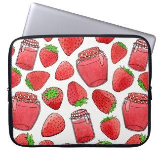 Sleeve Para Laptop Morangos & doces coloridos da aguarela