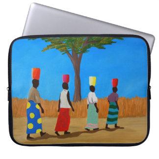 Sleeve Para Laptop Mulheres africanas coloridas que levam baldes