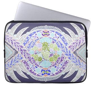 Sleeve Para Laptop Nascimento da vida, idade nova, meditação, boho,