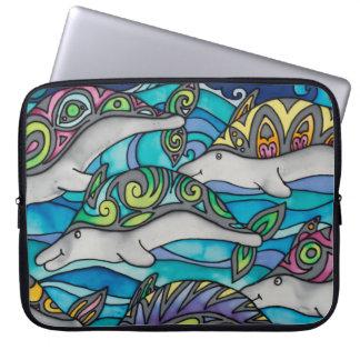 """Sleeve Para Laptop Neopreno 15"""" a bolsa de laptop: Série do golfinho"""