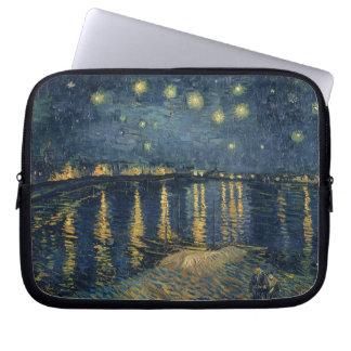 Sleeve Para Laptop Noite estrelado de Vincent van Gogh   sobre o