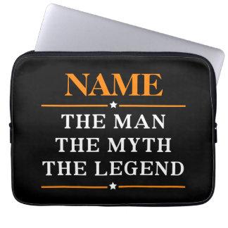 Sleeve Para Laptop Nome personalizado o homem o mito a legenda