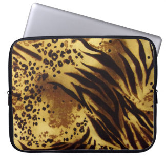 Sleeve Para Laptop O tigre listra a bolsa de laptop do teste padrão